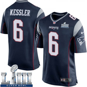 Youth Nike New England Patriots Cody Kessler Navy Blue Team Color Super Bowl LIII Jersey - Game
