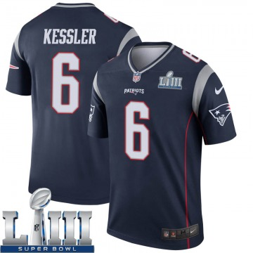 Youth Nike New England Patriots Cody Kessler Navy Super Bowl LIII Jersey - Legend