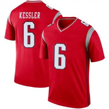Youth Nike New England Patriots Cody Kessler Red Inverted Jersey - Legend