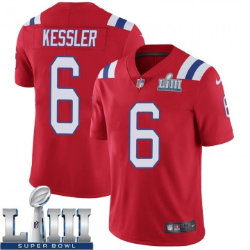 Youth Nike New England Patriots Cody Kessler Red Super Bowl LIII Vapor Untouchable Alternate Jersey - Limited