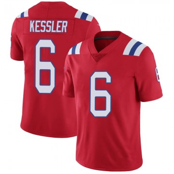 Youth Nike New England Patriots Cody Kessler Red Vapor Untouchable Alternate Jersey - Limited