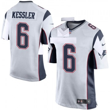 Youth Nike New England Patriots Cody Kessler White Jersey - Game
