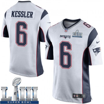 Youth Nike New England Patriots Cody Kessler White Super Bowl LIII Jersey - Game