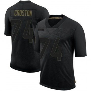 Youth Nike New England Patriots Cole Croston Black 2020 Salute To Service Jersey - Limited