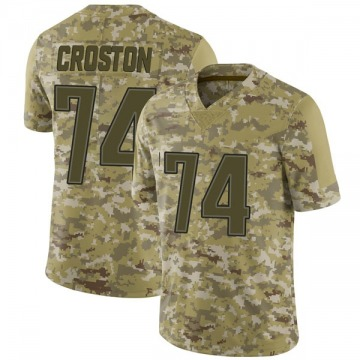 Youth Nike New England Patriots Cole Croston Camo 2018 Salute to Service Jersey - Limited