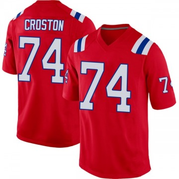 Youth Nike New England Patriots Cole Croston Red Alternate Jersey - Game