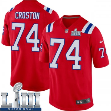 Youth Nike New England Patriots Cole Croston Red Alternate Super Bowl LIII Jersey - Game