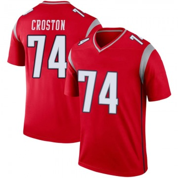 Youth Nike New England Patriots Cole Croston Red Inverted Jersey - Legend