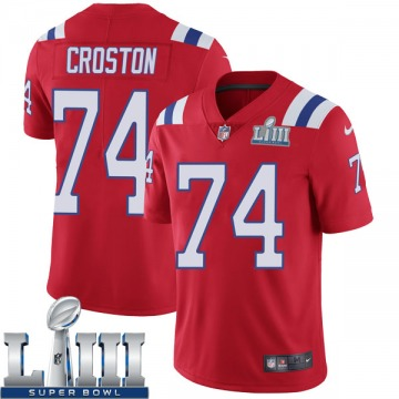 Youth Nike New England Patriots Cole Croston Red Super Bowl LIII Vapor Untouchable Alternate Jersey - Limited