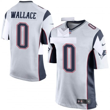 Youth Nike New England Patriots Courtney Wallace White Jersey - Game