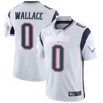 Youth Nike New England Patriots Courtney Wallace White Vapor Untouchable Jersey - Limited