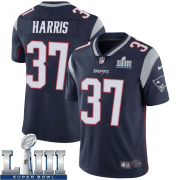 Youth Nike New England Patriots Damien Harris Navy Team Color Super Bowl LIII Vapor Untouchable Jersey - Limited