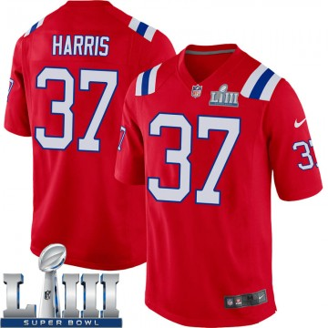 Youth Nike New England Patriots Damien Harris Red Alternate Super Bowl LIII Jersey - Game