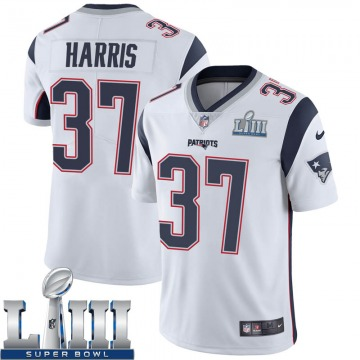 Youth Nike New England Patriots Damien Harris White Super Bowl LIII Vapor Untouchable Jersey - Limited