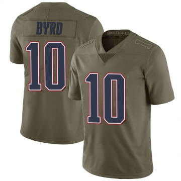 Youth Nike New England Patriots Damiere Byrd Green 2017 Salute to Service Jersey - Limited
