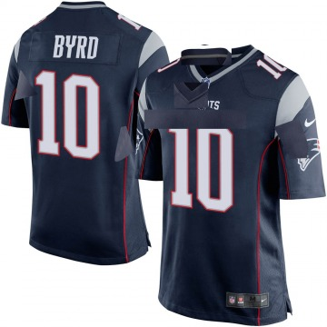 Youth Nike New England Patriots Damiere Byrd Navy Blue Team Color Jersey - Game