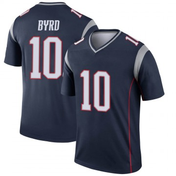 Youth Nike New England Patriots Damiere Byrd Navy Jersey - Legend