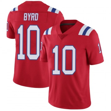 Youth Nike New England Patriots Damiere Byrd Red Vapor Untouchable Alternate Jersey - Limited