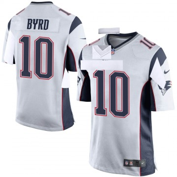 Youth Nike New England Patriots Damiere Byrd White Jersey - Game