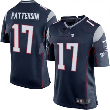 Youth Nike New England Patriots Damoun Patterson Navy Blue Team Color Jersey - Game