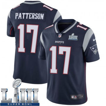 Youth Nike New England Patriots Damoun Patterson Navy Team Color Super Bowl LIII Vapor Untouchable Jersey - Limited