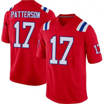 Youth Nike New England Patriots Damoun Patterson Red Alternate Jersey - Game