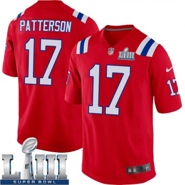 Youth Nike New England Patriots Damoun Patterson Red Alternate Super Bowl LIII Jersey - Game