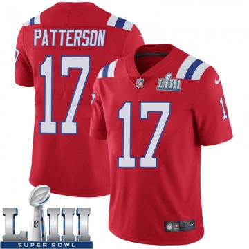 Youth Nike New England Patriots Damoun Patterson Red Super Bowl LIII Vapor Untouchable Alternate Jersey - Limited