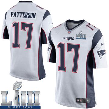 Youth Nike New England Patriots Damoun Patterson White Super Bowl LIII Jersey - Game