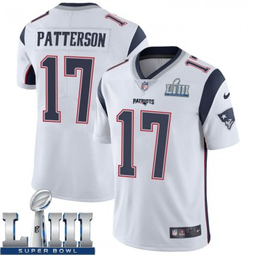 Youth Nike New England Patriots Damoun Patterson White Super Bowl LIII Vapor Untouchable Jersey - Limited