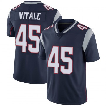 Youth Nike New England Patriots Danny Vitale Navy 100th Vapor Jersey - Limited