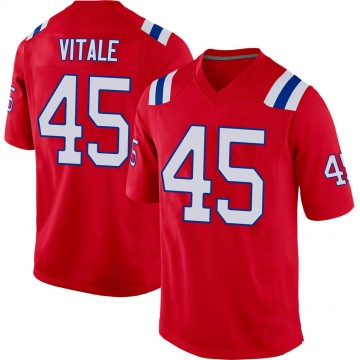 Youth Nike New England Patriots Danny Vitale Red Alternate Jersey - Game