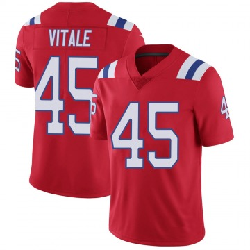 Youth Nike New England Patriots Danny Vitale Red Vapor Untouchable Alternate Jersey - Limited