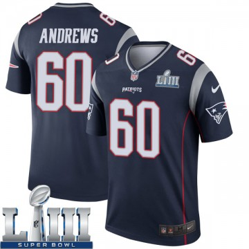 Youth Nike New England Patriots David Andrews Navy Super Bowl LIII Jersey - Legend