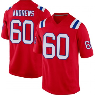 Youth Nike New England Patriots David Andrews Red Alternate Jersey - Game