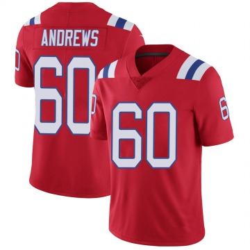 Youth Nike New England Patriots David Andrews Red Vapor Untouchable Alternate Jersey - Limited