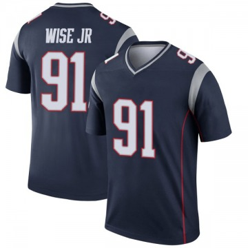 Youth Nike New England Patriots Deatrich Wise Jr. Navy Jersey - Legend