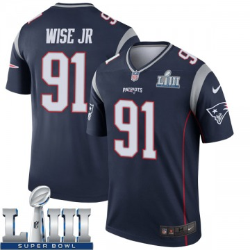 Youth Nike New England Patriots Deatrich Wise Jr. Navy Super Bowl LIII Jersey - Legend