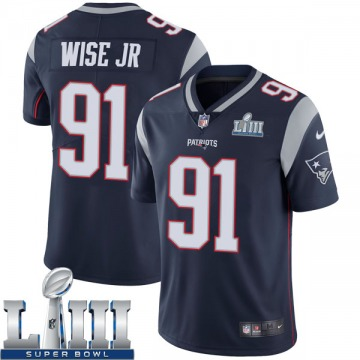 Youth Nike New England Patriots Deatrich Wise Jr. Navy Team Color Super Bowl LIII Vapor Untouchable Jersey - Limited