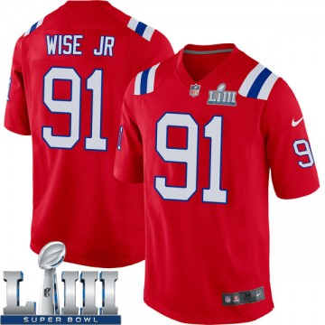 Youth Nike New England Patriots Deatrich Wise Jr. Red Alternate Super Bowl LIII Jersey - Game