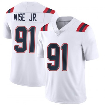 Youth Nike New England Patriots Deatrich Wise Jr. White Vapor Untouchable Jersey - Limited