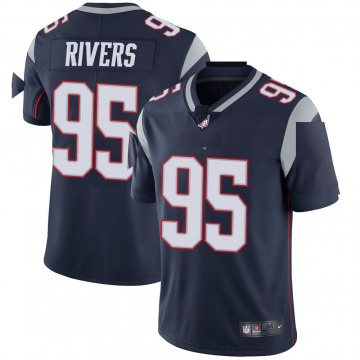 Youth Nike New England Patriots Derek Rivers Navy Team Color Vapor Untouchable Jersey - Limited
