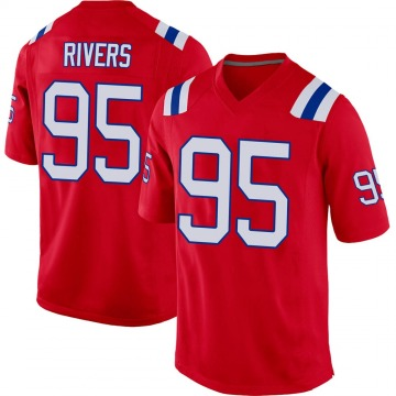 Youth Nike New England Patriots Derek Rivers Red Alternate Jersey - Game