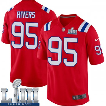 Youth Nike New England Patriots Derek Rivers Red Alternate Super Bowl LIII Jersey - Game