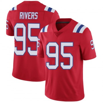 Youth Nike New England Patriots Derek Rivers Red Vapor Untouchable Alternate Jersey - Limited