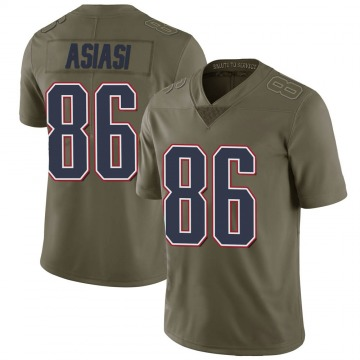 Youth Nike New England Patriots Devin Asiasi Green 2017 Salute to Service Jersey - Limited