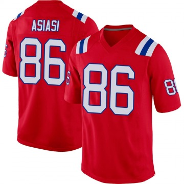 Youth Nike New England Patriots Devin Asiasi Red Alternate Jersey - Game