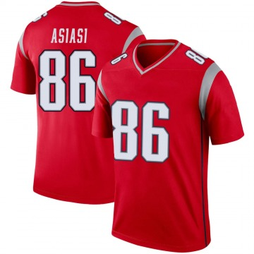 Youth Nike New England Patriots Devin Asiasi Red Inverted Jersey - Legend
