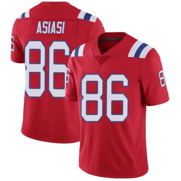 Youth Nike New England Patriots Devin Asiasi Red Vapor Untouchable Alternate Jersey - Limited