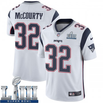 Youth Nike New England Patriots Devin McCourty White Super Bowl LIII Vapor Untouchable Jersey - Limited